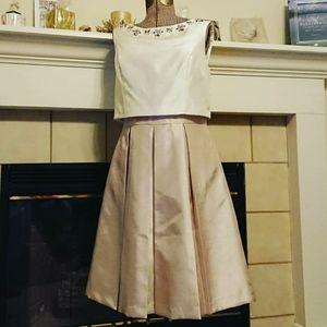 Jessica Howard Cocktail Dress - Cream / Champagne